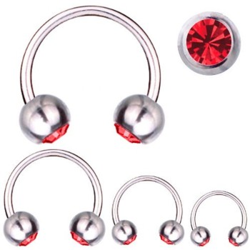 Hufeisen-Piercing Titan 1,2 mm SWAROVSKI ELEMENTS...