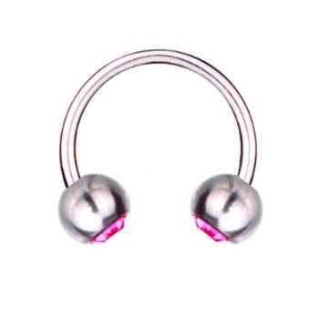 Hufeisen-Piercing Titan 1,6 mm SWAROVSKI ELEMENTS...
