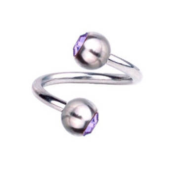 Piercing-Spirale Titan 1,2 mm SWAROVSKI ELEMENTS...