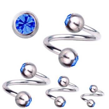 Piercing-Spirale Titan 1,6 mm SWAROVSKI ELEMENTS...