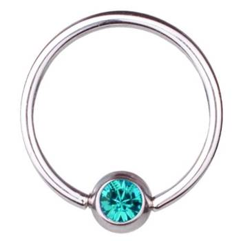 BCR Piercing-Ring Titan 1,6 mm SWAROVSKI ELEMENTS...