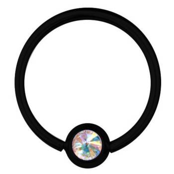 BCR Black Titanium Piercing 1,2 mm, SWAROVSKI ELEMENTS...