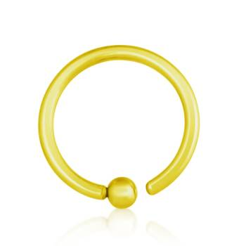 BCR Piercing Gold Plated, Fixed Ball, Thickness 1,2 mm |...