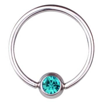 BCR Piercing-Ring Titan 0,8 mm SWAROVSKI ELEMENTS...