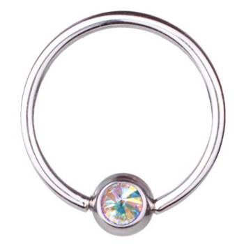 Piercing Anneau Titane 0,8 mm Cristal SWAROVSKI ELEMENTS...