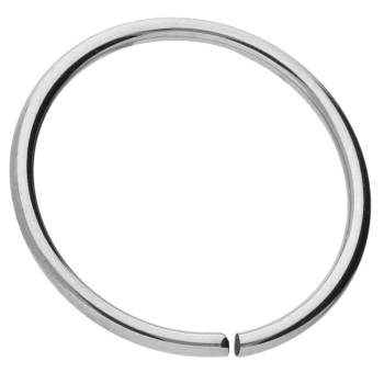 Continuous Ring 0,8 mm 10 mm Titan Silberfarben