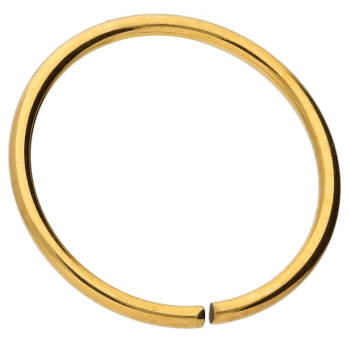 Continuous Ring 0,8 mm 8 mm Titan Goldfarben