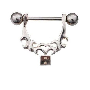 Nipple Shield Bar Piercing 925 Sterling Silver, Body...