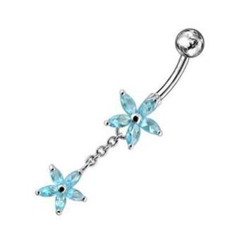 Belly Bar Navel Piercing Banana 925 Sterling Silver, Body...