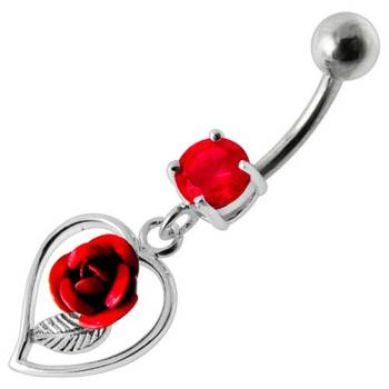 Belly Bar Navel Piercing 925 Sterling Silver, Body...