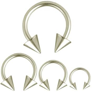 Circular Barbell Horseshoe Piercing Spikes, Body...