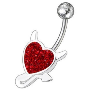 Belly Bar Banana Navel Piercing 925 Sterling Silver, Body...